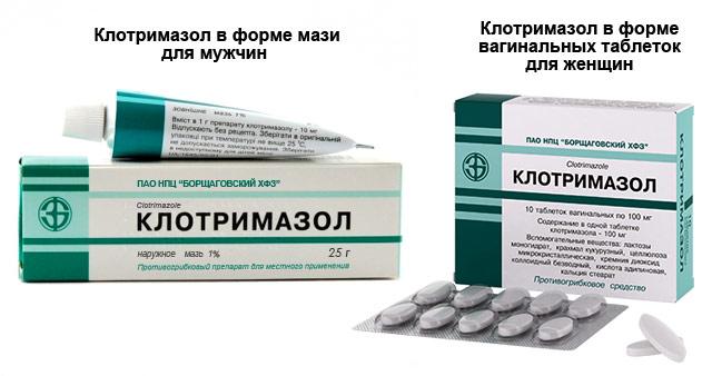 мазь и таблетки Клотримазол