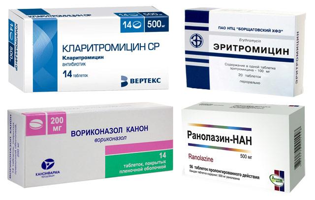 препараты, которые нельзя использовать с флуконазолом