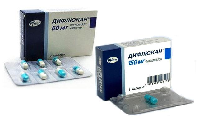Дифлюкан с содержанием флуконазола 50 и 150 мг