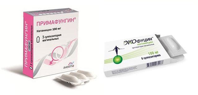 Примафунгин суппозитории вагинальные и Экофуцин суппозитории вагинальные