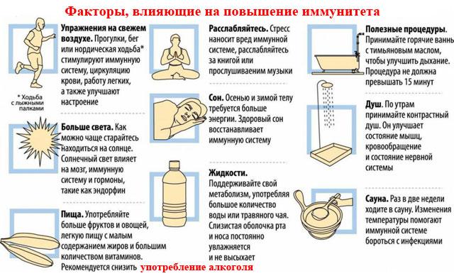 факторы, влияющие на повышение иммунитета