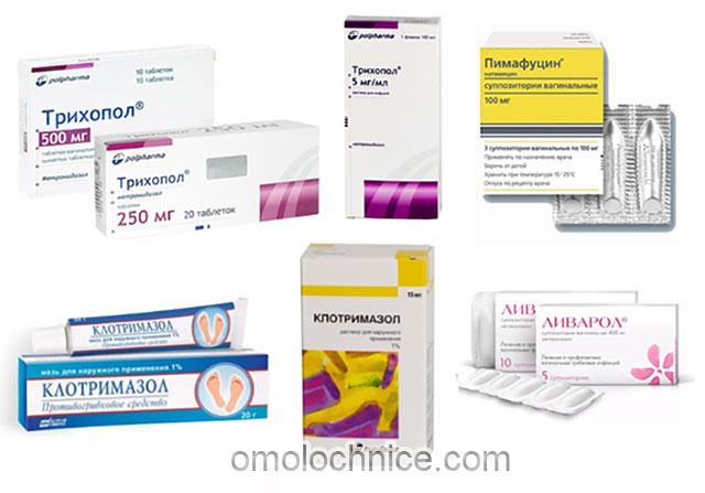 медицинские препараты для лечения молочницы